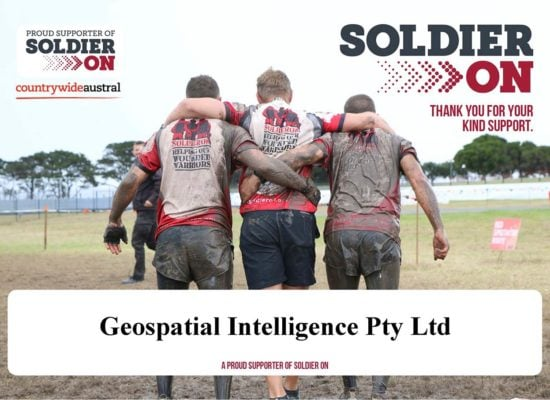 Geospatial Intelligence is a proud supporter of Soldier On Australia